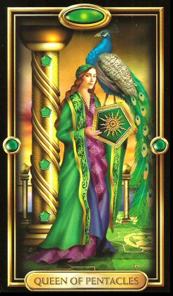 The Gilded Tarot by Ciro Marchetti - Queen of Pentacles